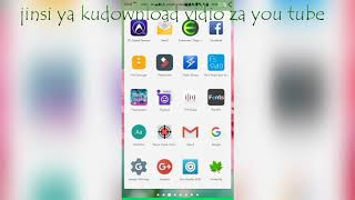 jinsi ya kudownload vidio YouTube(full hd,mp3,mp4,nk )