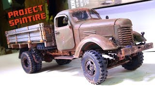 """RC ADVENTURES - Project: """"SPiNTiRE"""" - FiNAL PRODUCT: RUST & AGiNG """"How To"""" PT2 - 2WD CA10 WORK TRUCK"""
