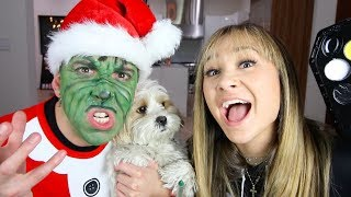 MY CHRISTMAS TRANSFORMATION INTO THE GRINCH!!