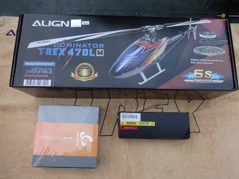 UNBOXING NEW ALIGN T-REX 470LM,with size comparison T-Rex 450 !