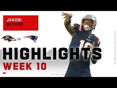Jakobi Meyers Rains on the Ravens Parade NFL 2020 Highlights