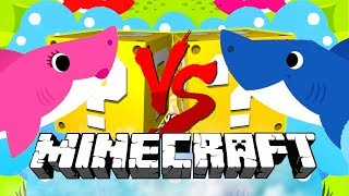 Minecraft: BABY SHARK LUCKY BLOCK CHALLENGE | EAT ALL THE FISH (doo doo doo)