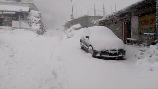 Fresh Snowfall in Upper Hills of Sirmour in Himachal pradesh