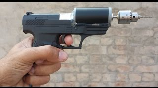 How to make a DRILL Machine Using Toy GUN and Motor