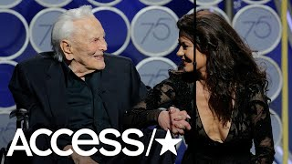 Kirk Douglas Hits The 2018 Golden Globes At 101 Years Old! | Access
