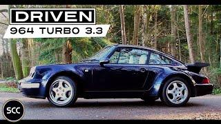 PORSCHE 911 964 TURBO 3.3 - 1991 - Test drive in top gear - Engine sound | SCC TV