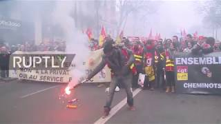 France: Clashes in Paris over Macron's public sector reforms