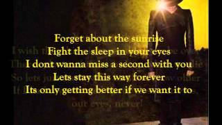 Adam Lambert - Never Close Our Eyes (lyrics)