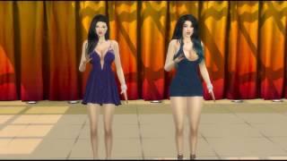The Sims 4 Animation Pose Test - Duo Serigala - Baby Baby (Tusuk tusuk)