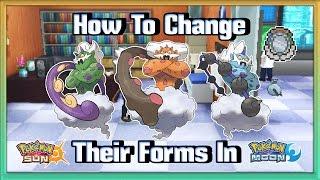 How to change Thundurus, Tornadus and Landorus Forms in Pokémon Sun & Moon!