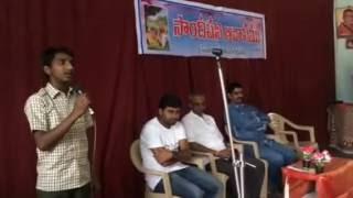 Sandipani Avasam student sings Vandemataram patriotic song