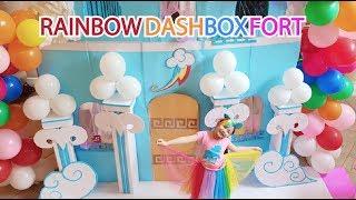 Life Size Rainbow Dash House BoxFort ! MLP Babies
