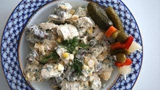 Chicken Mushroom Salad Recipe - Heghineh Cooking Show