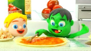SUPERHERO BABIES BEST CHEFS EVER ❤ Hulk & Frozen Elsa Play Doh Cartoons For Kids