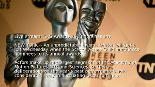 Live stream: SAG Awards 2018 nominations
