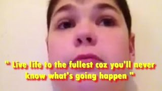 Cute Boy Says GOODBYE to YouTubers Before His Near Death ( 2012 - R.I.P Shaun Miller )