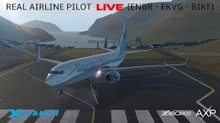 X-Plane 11   Real Airline Captain LIVE (ZIBO MOD 737)   Bergen - Faroe Islands - Keflavik