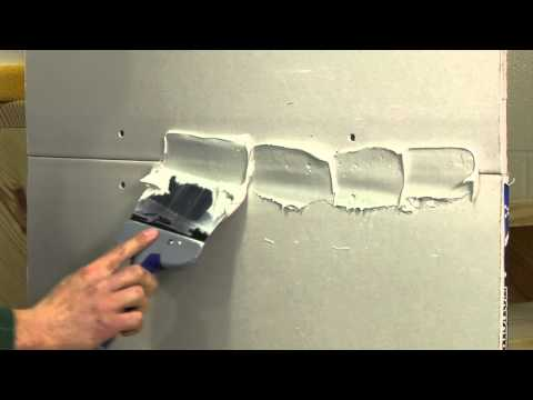 Finishing a Drywall Joint STEP 1