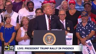 "BASHES CNN! ""LITTLE GEORGE STEPHANOPOULOS!"" President Trump speaks at Phoenix Rally"