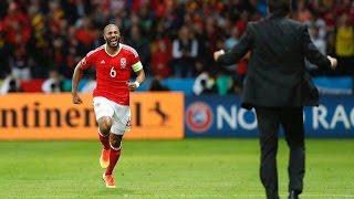 Gol ashley Williams l Bélgica 1:1 galés l Euro 2016
