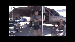 Using a Tarp as an Awning | Living in a Van