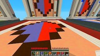Minecraft 1.8 REPLICA with Vikkstar, Preston, Rob & Kenny (Minecraft Mini Game)