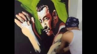 Sultan Movie - Salman Khan Live painting (Dhaval Khatri) 2016