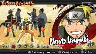 (Personajes ocultos 2015) Naruto Ultimate Ninja Impact/ppsspp Gold/android
