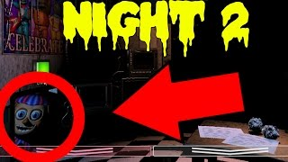 Five Nights at Freddy's 2: Gameplay Walkthrough Part 2 - NIGHT 2 - BALLOON MAN ATTACKS!