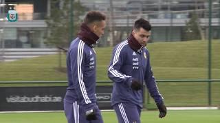 Segundo turno de entrenamiento de la Selección Argentina