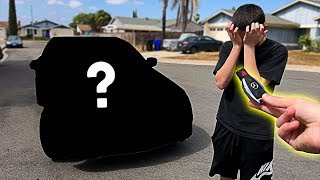 I pranked him... then I BOUGHT him his DREAM CAR!! **emotional surprise**