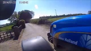 New Holland T6080 drawing silage 2016 [HD]