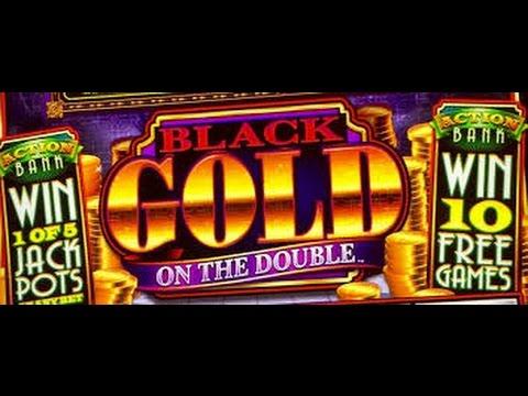 Action Bank On the Double Slot Machine Bonus & Line Hit