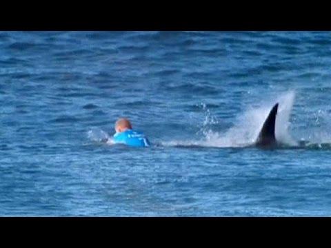 El surfista Fanning se salva de milagro del ataque de un tiburón