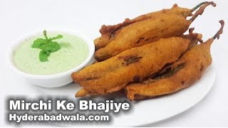 Mirchi Ke Bhajiye Recipe Video – How to Make Hyderabadi Chili Pepper Fritters at Home