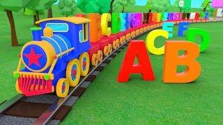 ABC Alphabet | ABC Song | Train Adventure | 3D Nursery Rhymes | Baby Songs | ABC Songs For Children