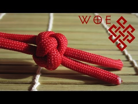 How to Tie the Ideal Paracord Lanyard Knot Two Strand Diamond Knot