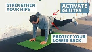 Technique To Activate Glutes & Strengthen Your Hips [4 Point Hip Abduction]