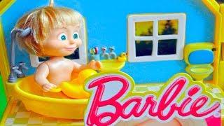 bajka Masza i Niedźwiedź po polsku Barbie kąpania z kaczkami