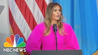 First Lady Melania Trump At U.N. Luncheon: Children Must Be Taught By Example | NBC News