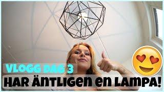 Vlogg | Sätter upp den nya lampan, tränar & går på frukost event