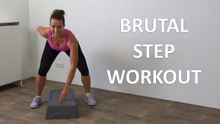 10 Minute Brutal Steps Cardio Workout - Advanced Step Workout