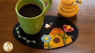 Wooly Mug Mat Series - June | a Shabby Fabrics Tutorial