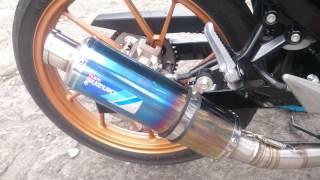 Check sound Knalpot Racing original Suzuki SGA satria FU