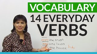 English Vocabulary: Verbs for things you do every day!