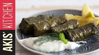 Greek Dolmades - Stuffed Vine Leaves | Akis Kitchen