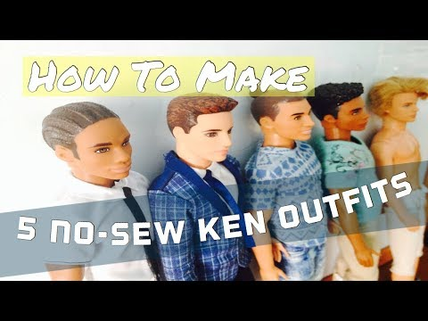 How to make- 5 No-Sew Boy Doll Outfits