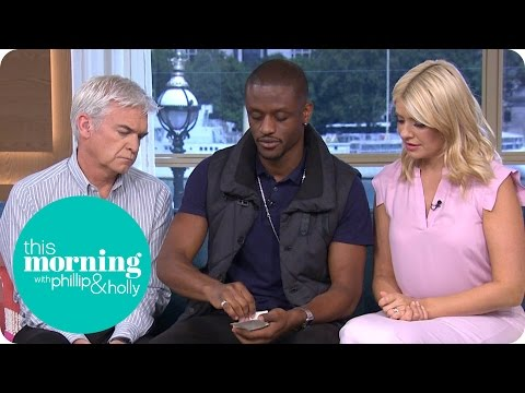 Magical Bones Shocks Holly and Phillip With a Gravity Defying Card Trick This Morning