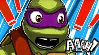 Teenage Mutant Ninja Turtles Donnie Saves a Princess - Cartoon Movie Game New Episodes TMNT 2015 HD