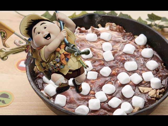 How To Make Russell's Frying Pan S'mores | Dishes By Disney